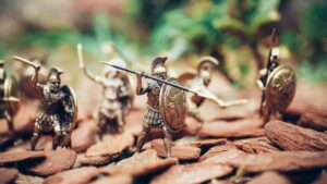 鎧の戦いミニチュア人形のイメージ画像