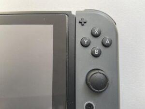 使い古したスイッチの拡大の一部画像