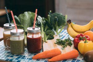 緑黄野菜とスムージー